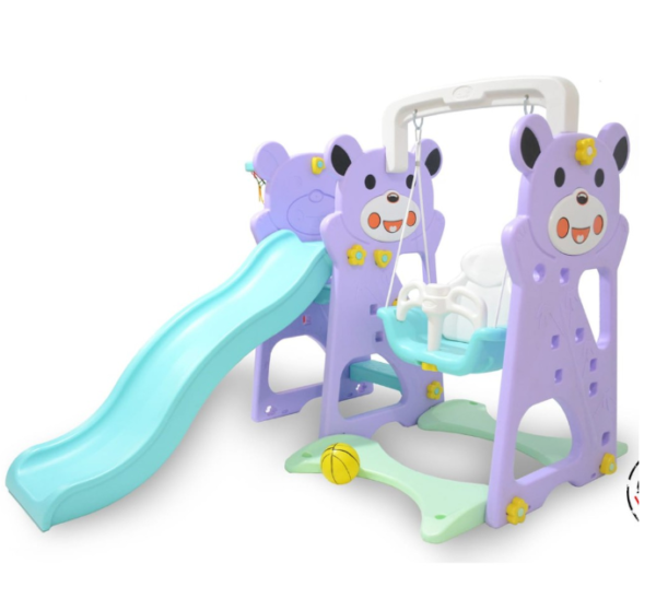 Toys Labeille Panda 3 in 1 Slide and Swing – Purple