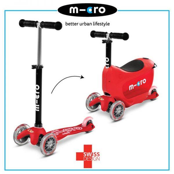 Micro Mini2Go Deluxe Scooter – Red 2